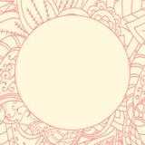 Cirkelkant vectorkader Stock Afbeelding