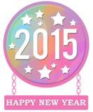 Cirkelkedjor för lyckligt nytt år Arkivfoton