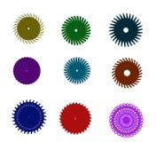Cirkellogouppsättning stock illustrationer