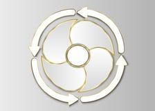 Cirkelmall, cirkeletikett Fotografering för Bildbyråer