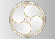 Cirkelmall, cirkeletikett Royaltyfria Bilder