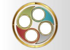 Cirkelmall, cirkeletikett Arkivbilder