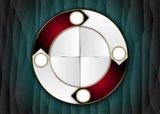 Cirkelmall, cirkeletikett Royaltyfria Foton