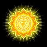 Cirkelmandalamodell Manipura Chakra Arkivfoton