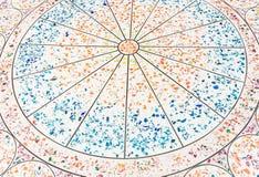 Cirkelmodell på det mable golvet Arkivfoto