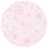 Cirkeln av rundan snör åt doilies Royaltyfri Foto