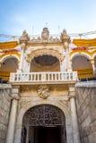 Cirkeln för tjurstridighet på Seville, Spanien, Europa Royaltyfria Foton