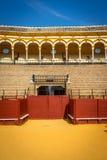 Cirkeln för tjurstridighet på Seville, Spanien, Europa Royaltyfri Bild