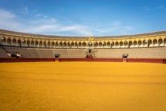 Cirkeln för tjurstridighet på Seville, Spanien, Europa Arkivbilder