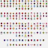 cirkeln flags världen stock illustrationer