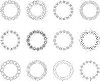cirkeln planlägger utsmyckat stock illustrationer