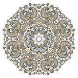 cirkeln snör åt den dekorativa rounden för prydnaden Royaltyfria Bilder