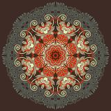 cirkeln snör åt den dekorativa rounden för prydnaden Arkivbilder