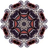 cirkeln snör åt den dekorativa rounden för prydnaden Royaltyfri Foto