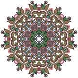 cirkeln snör åt den dekorativa rounden för prydnaden Arkivbild