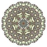 cirkeln snör åt den dekorativa rounden för prydnaden Royaltyfri Fotografi