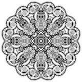 Cirkeln snör åt prydnaden, runt dekorativt geometriskt Arkivbild