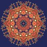 Cirkeln snör åt prydnaden, runt dekorativt geometriskt Royaltyfri Bild