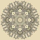 Cirkeln snör åt prydnaden, runt dekorativt geometriskt Arkivfoto