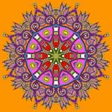 Cirkeln snör åt prydnaden, runt dekorativt geometriskt Royaltyfri Fotografi