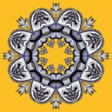 Cirkeln snör åt prydnaden, runt dekorativt geometriskt Royaltyfria Foton