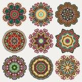 Cirkeln snör åt prydnaden, runt dekorativt geometriskt Royaltyfria Bilder