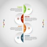 Cirkeln syr ihop Infographic Royaltyfria Foton