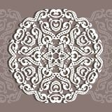 Cirkelornament, laserknipsel Decoratieve achtergrond voor een gr. vector illustratie