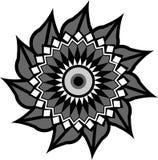 Cirkelornament met divers patroon stock illustratie