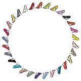 Cirkelornamentschoenen Stock Fotografie