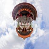 Cirkelpanorama av byggnad i Dragon Temple Kammalawat Temple Royaltyfri Fotografi