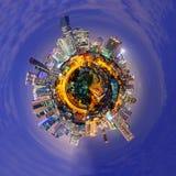 Cirkelpanorama av staden Royaltyfria Bilder