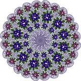Cirkelpatroon met bloemen Stock Foto's