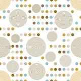 Cirkelpatroon. Moderne modieuze textuur. Royalty-vrije Stock Afbeelding