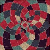 Cirkelpatroon van multicolored geometrisch Stock Afbeelding