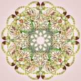 Cirkelpatroon voor textiel royalty-vrije illustratie