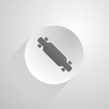 Cirkelpictogram voor longboard Stock Afbeelding