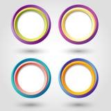 Cirkelpictogrammen Royalty-vrije Stock Afbeeldingen