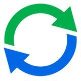 Cirkelpijl, het pictogram van de cirkelpijl Omwenteling, nieuw begin, draai, tur royalty-vrije illustratie