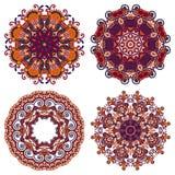 Cirkelprydnaden, den dekorativa rundan snör åt samlingen Royaltyfri Fotografi