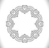 Cirkelprydnadram med utrymme för text Arkivfoton