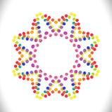 Cirkelprydnadram med utrymme för text Fotografering för Bildbyråer