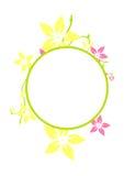 cirkelram royaltyfri illustrationer
