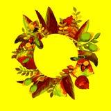 Cirkelramar med blomman Hand dragen vattenfärgillustration Kan användas som ett tryck för tyg eller ramen för din text Royaltyfria Foton