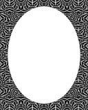Cirkelrambakgrund med dekorerade stam- designgränser Royaltyfri Fotografi