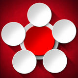 Cirkels Abstracte Achtergrond - Rood Fluweel Royalty-vrije Stock Fotografie