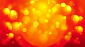 Cirkels achtergrondrood en sinaasappel Royalty-vrije Stock Fotografie