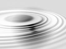 Cirkels in de vloeistof Royalty-vrije Stock Fotografie