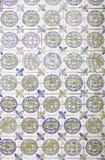 Cirkels en Bloementegel Royalty-vrije Stock Foto's