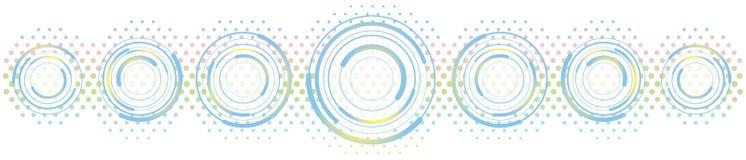 Cirkels en Halftone Stock Afbeelding